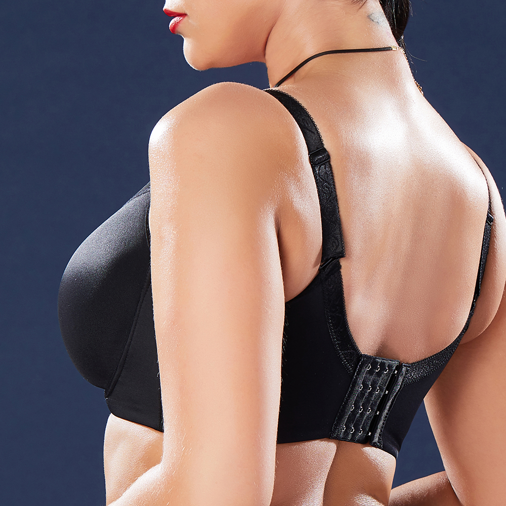 0da7f1313c9d3 Banggood Push Up Seamless Prevent Sagging Gather Plus Size Wire Free Cami  Bra