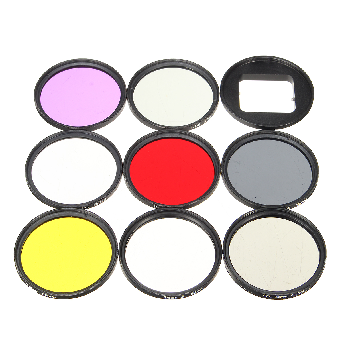 11 in 1 52mm UV CPL ND Filter with Adapter Lens Cap Hex Wrench for Gopro Hero 5