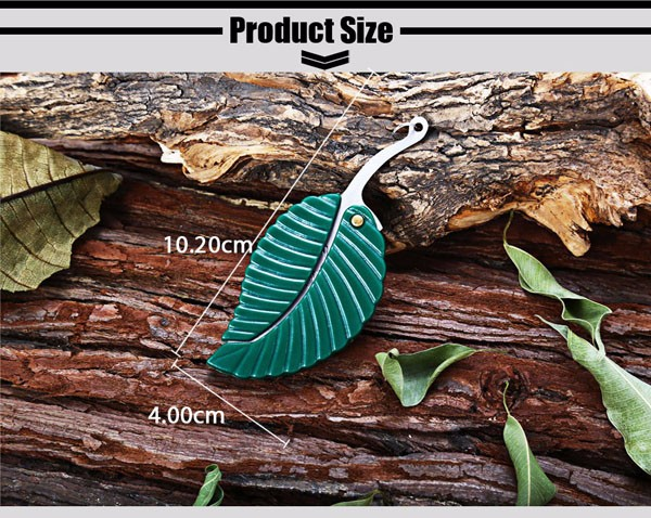 Folding Creative Mini Stainless Steel Leaf Shape Knife Portable Keyring Gift Tools