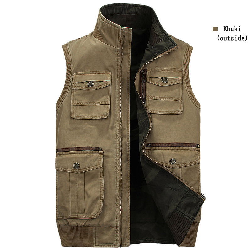 Mens Military Outdoor Camo Fishing Multifunctions Vest