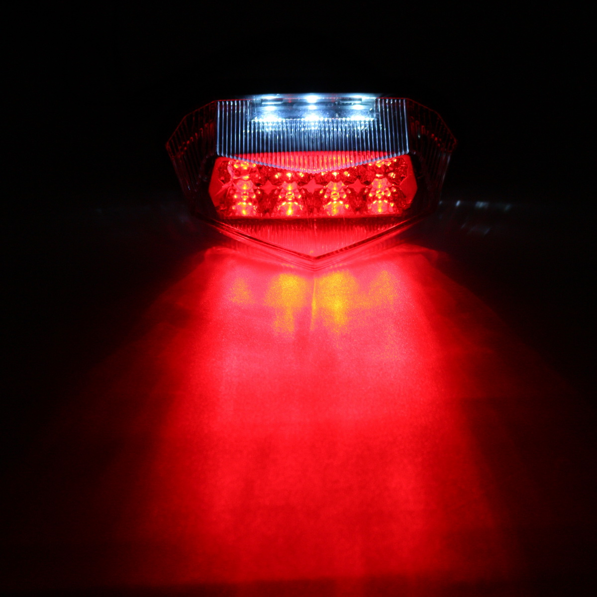 12V Motorcycle 11 LED Running License Plate Tail Indicator Brake Red Light