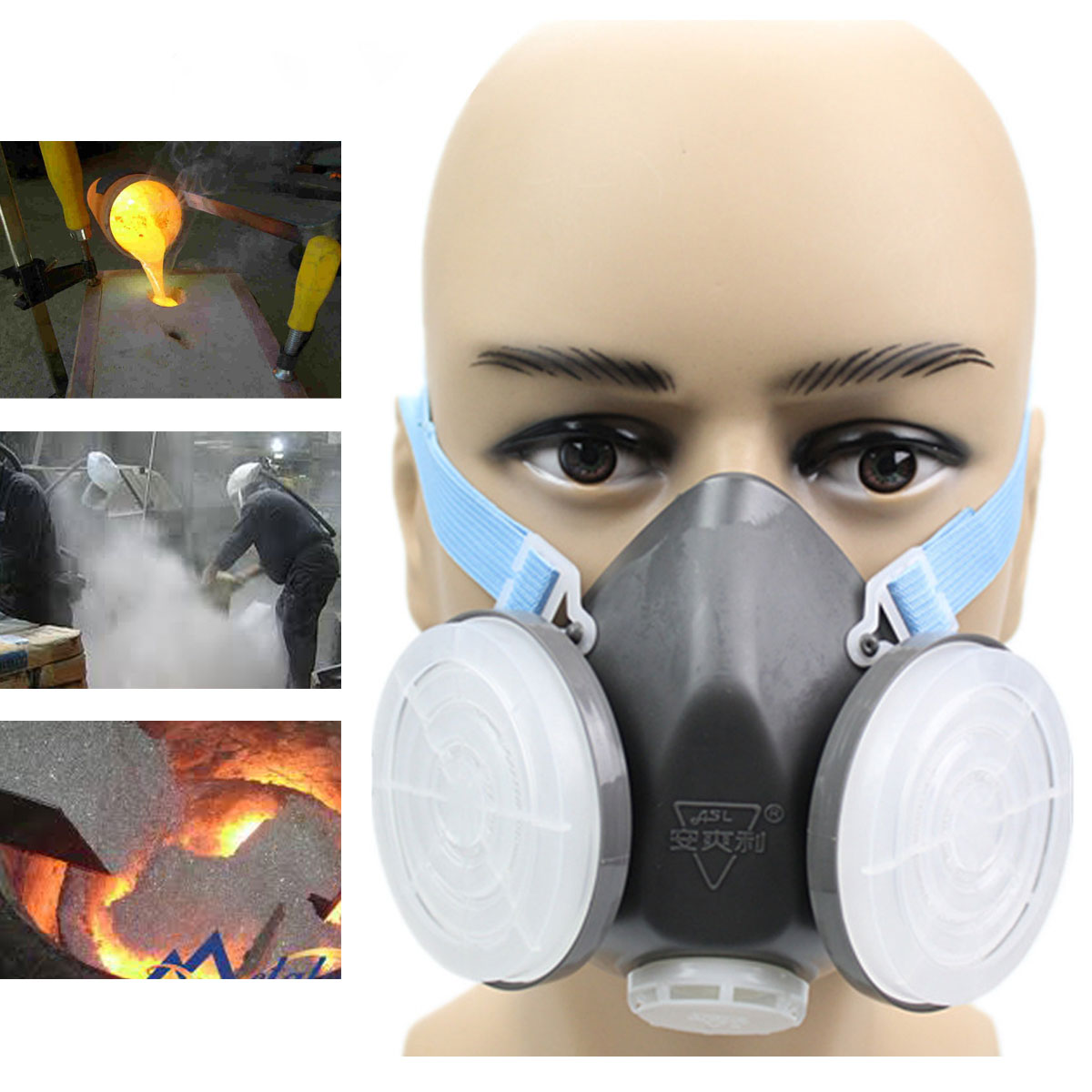 Anti Dust Respirator Gas Safety Half Face Mask Filter C