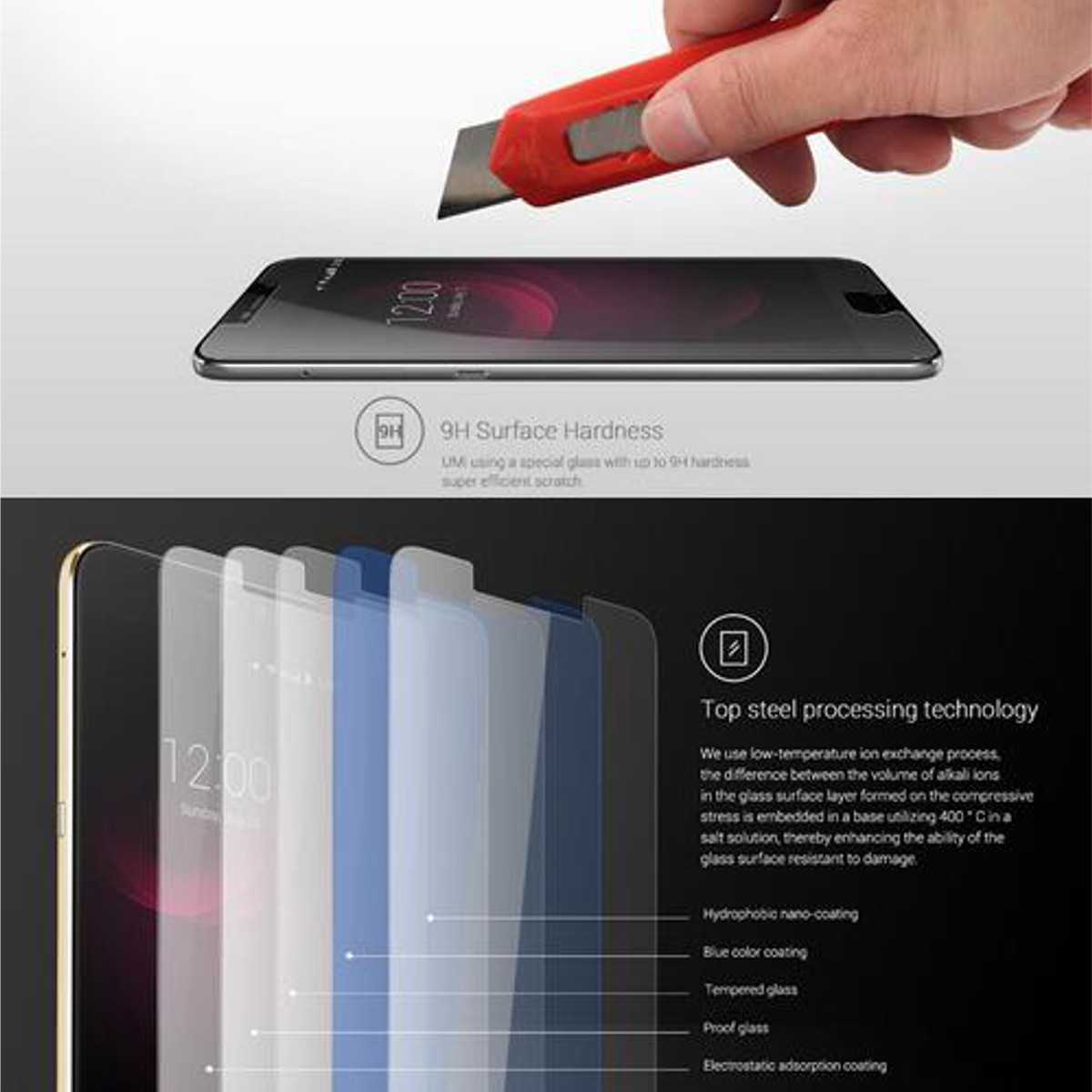 9H Tempered Glass Screen Protector Film For UMI Plus UMI Plus E
