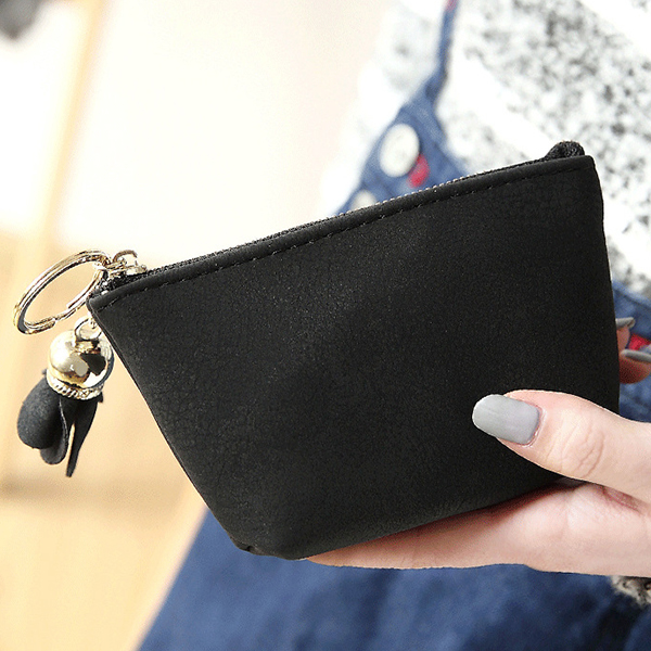 Simple Frosted Clutch Bag Coin Bag Card Bag Fresh Purse For