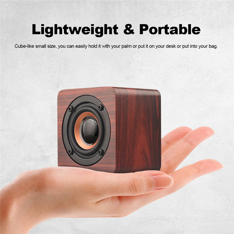 Wooden Portable Wireless bluetooth Speaker Mini Subwoofer Outdoor Handsfree Speakers With Mic