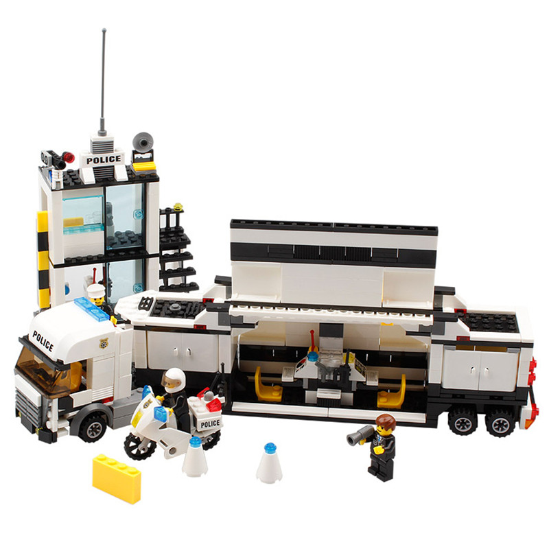 511 PCS Police Station DIY Assembled Building Blocks Bricks Toys Model For Kids Christmas Gift