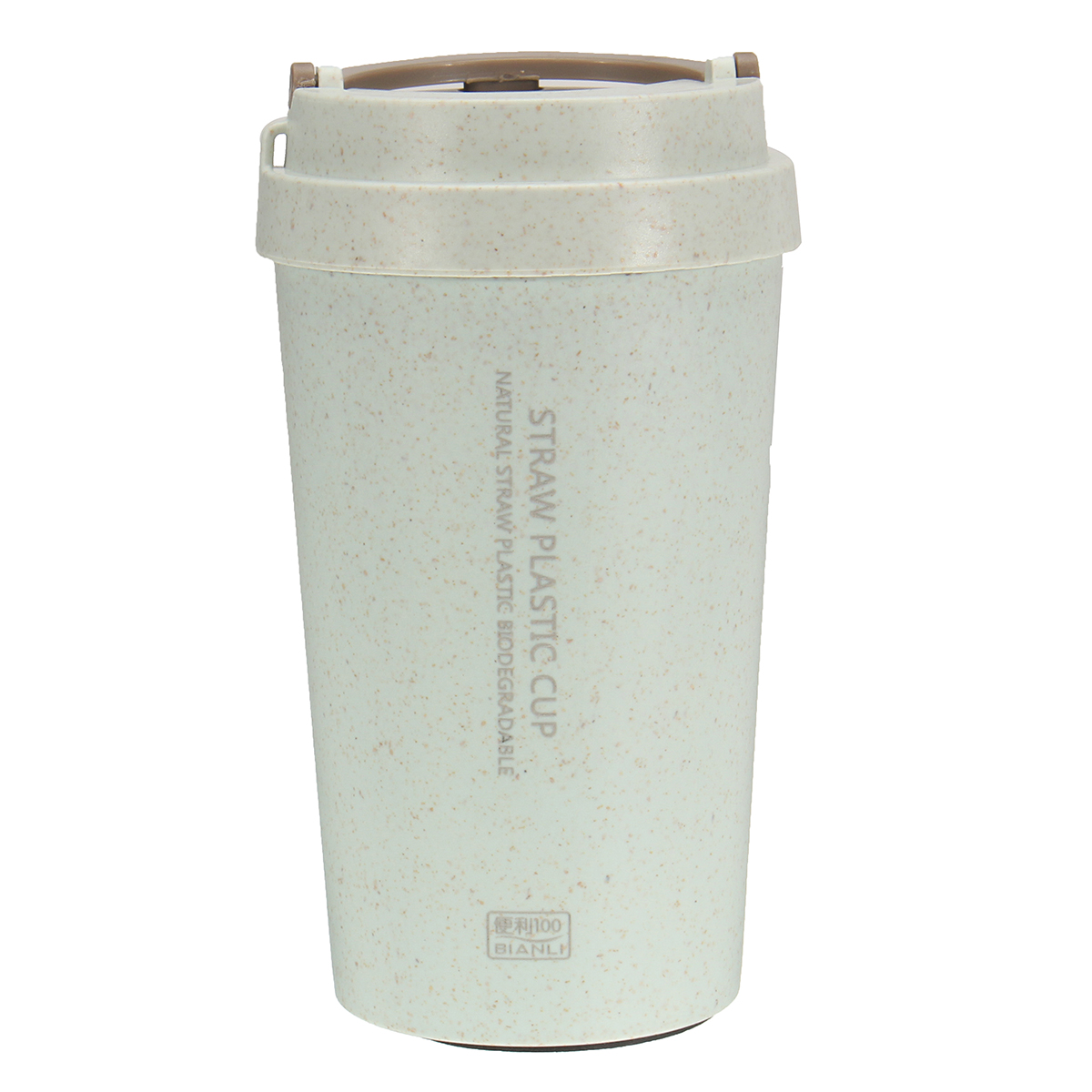 400L Wheat Straw Portable Double-wall Vacuum Bottle Coffee Cup Insulated Mug Water Bottle