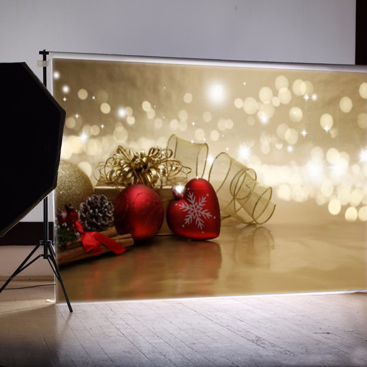 7X5ft Vinyl Photography Studio Background Fabric Christmas Decorations Gift photographic Backdrop