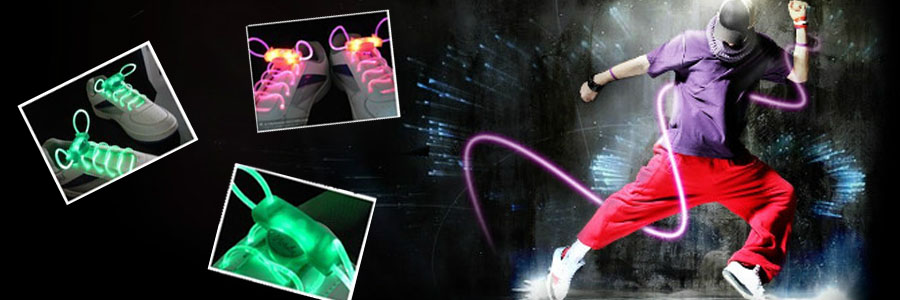 Cool LED Glowing Shoelaces Flashing Light Glowing Shoelace Disco Dance Party Supplies