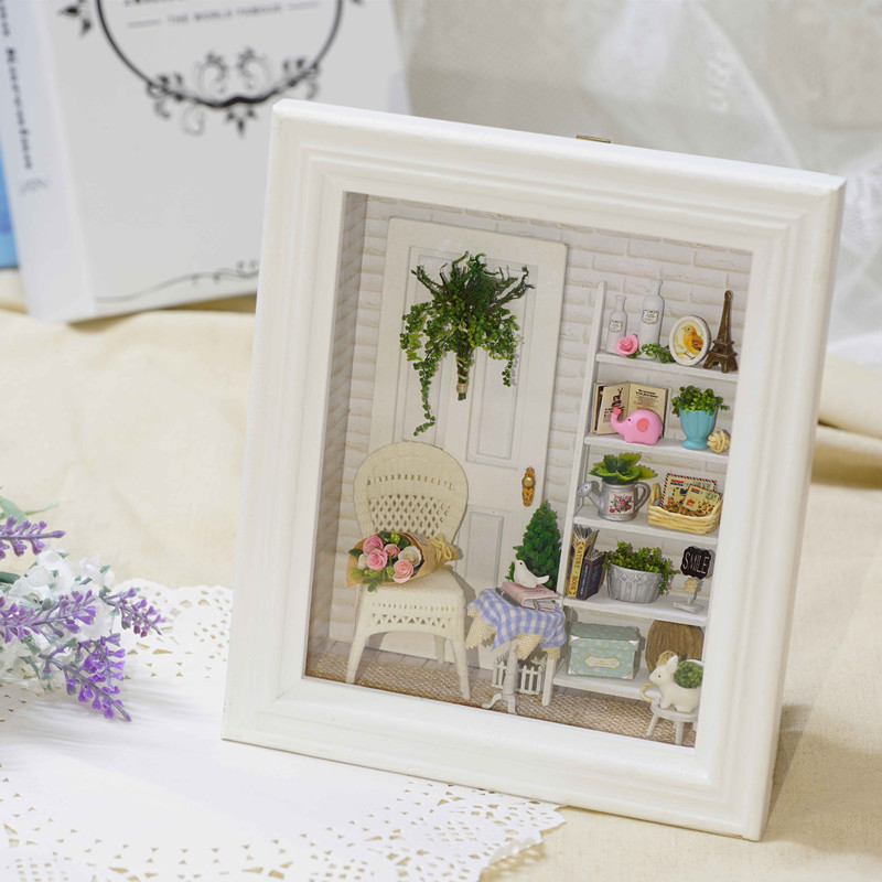 CuteRoom DIY Sunshine Zakka Room Dollhouse Kit Photo Frame Design Decor Collection Gift W-005