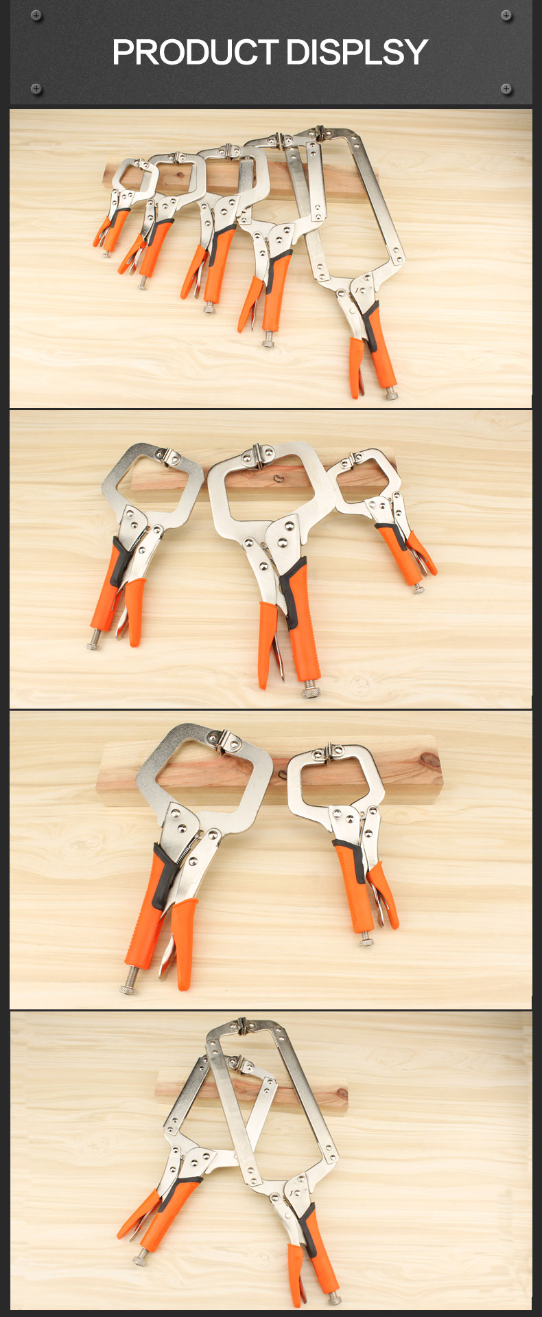 MYTEC MC-010102 C Type D-type Crimping Pliers Square Mouth Rubber Handle Woodworking Fast Pliers