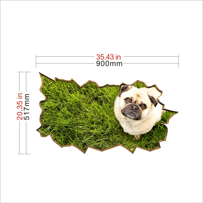 Dog Pet Lawn PAG STICKER 3D Desk Sticker Wall Decals Home Wall Desk Table Decor Gift