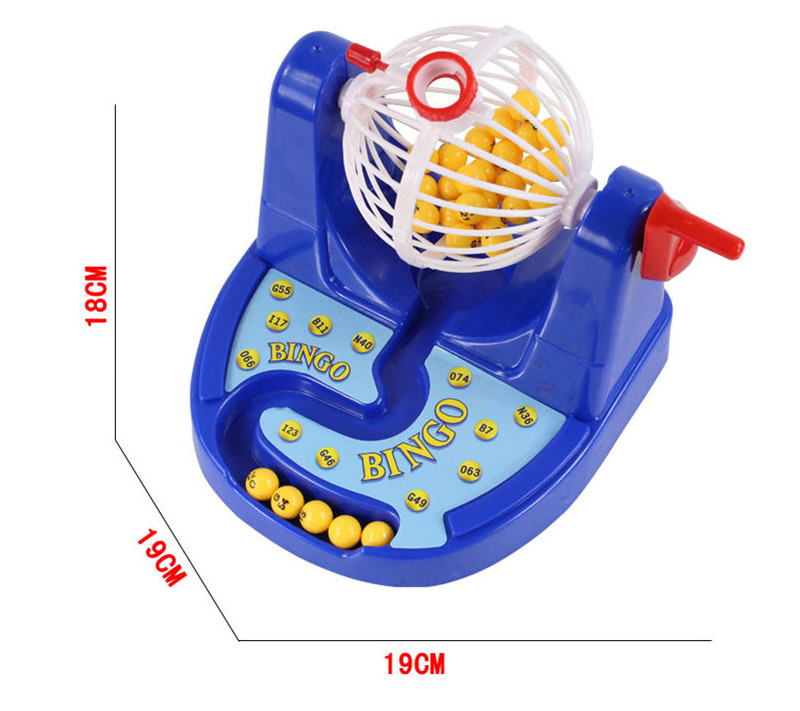 Mini Bingo Lottery Rotary Game Pocket Machine For Kids Families Fun Puzzle Desktop Party Toys