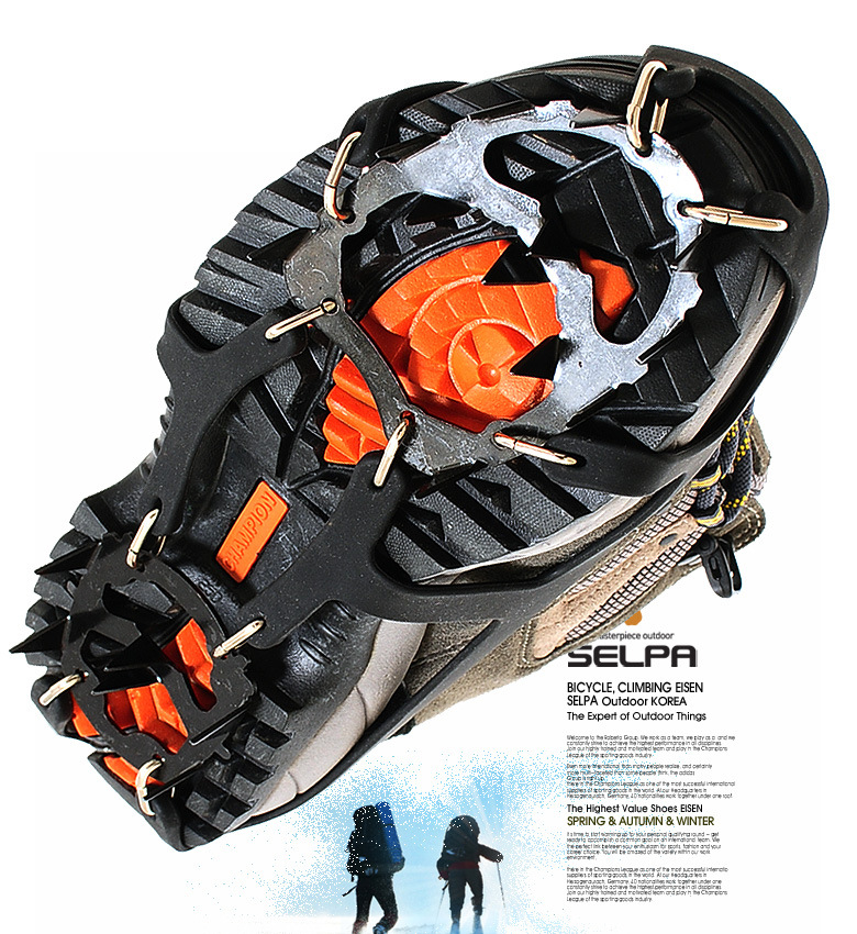 18 Teeth Crampons Winter Snow Skiing Mountain Climbing Non Slipping Shoe Cover