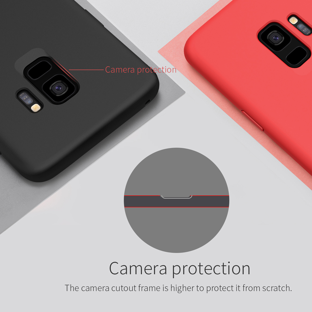 NILLKIN Liquid Silicone Soft Fiber Lining Protective Case for Samsung Galaxy S9