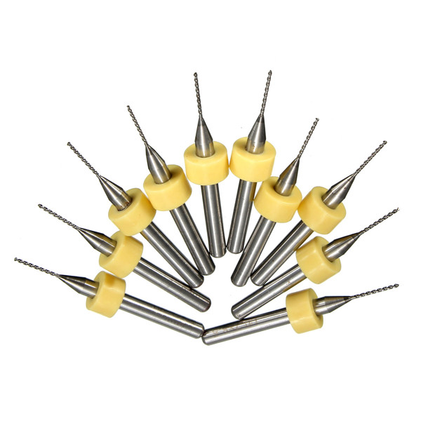 10pcs 0.7mm Mini PCB Drill Bits For CNC Print Circuit Board Tungsten Steel