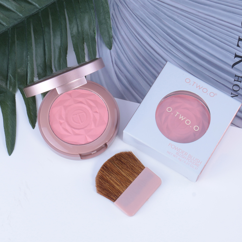 6 Colors Rose Makeup Face Blush Brighten Face Fine Powder