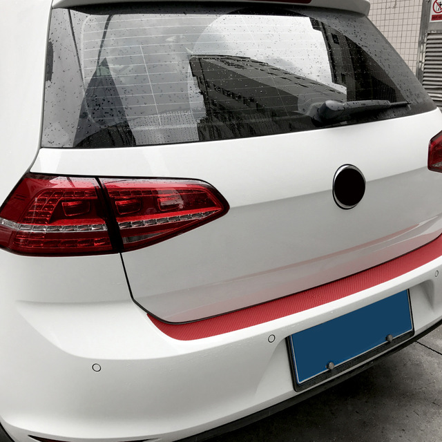 108X7.2cm Carbon Fiber Rear Bumper Car Stickers Protector Trim 7 Colors for VW Golf MK6 GTI R20