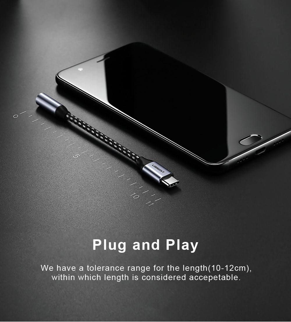 Ugreen AV142 Type-C to 3.5mm Jack Female Audio Cable Earphone Cable for Huawei Mate 10 Pro Xiaomi Mi 6 Mix2