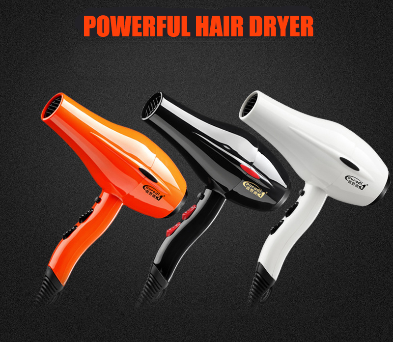 2000W Electric Hair Dryer Fast Dry Powerful Styling Tools Blow Hot Cold Household Black 110V 220V