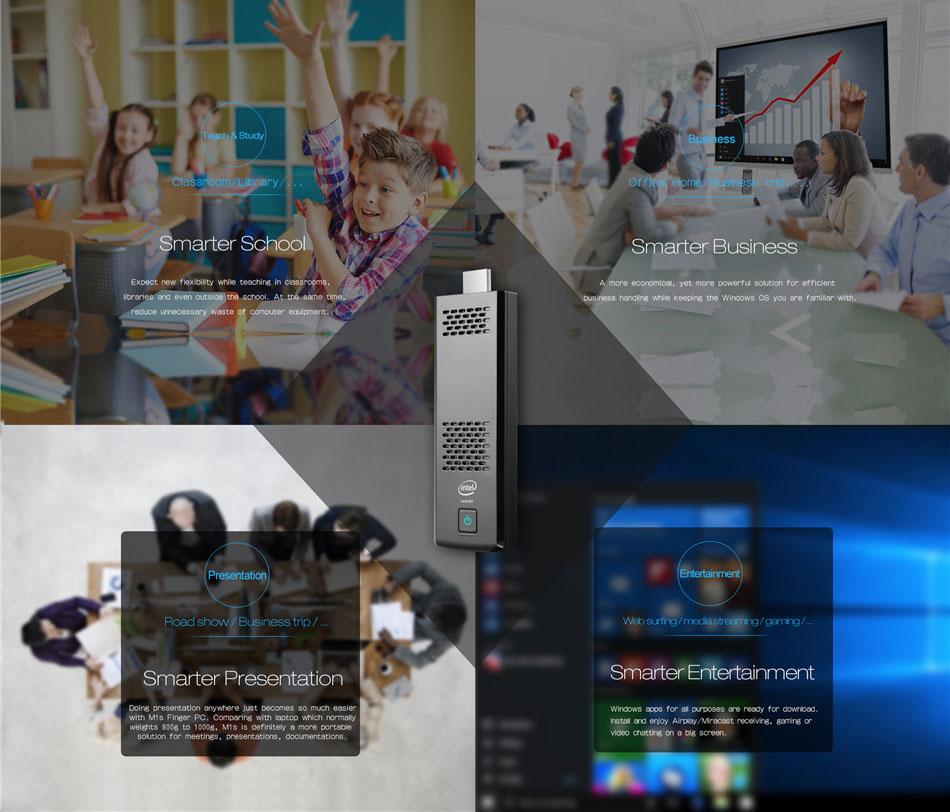 MoreFine M1s Windows 10 Mini PC Intel Cherry Trail 1.84Ghz X5-Z8350 4G Ram 64G Rom bluetooth 2.4GHz/5Ghz WiFi Slient Fan HDMI Slot