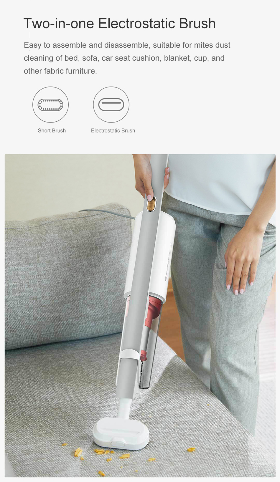 Xiaomi youpin Deerma Back-carrying Stick Vacuum Handheld Cleaner Handheld Dust Collector