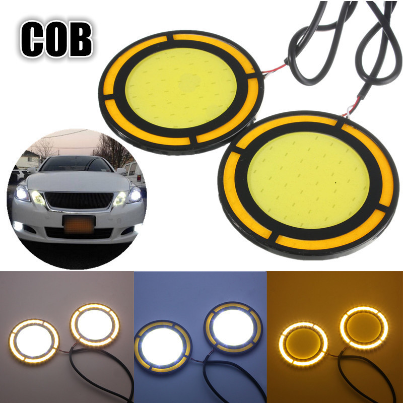 LED Daytime Running Light Waterproof COB 12V 6.5CM LED Lights DRL Fog Driving Light For Benz