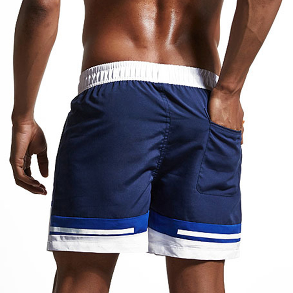 SUPERBODY Summer Mens Leisure Sports Hit color Loose Speed Dry Beach Shorts Pants