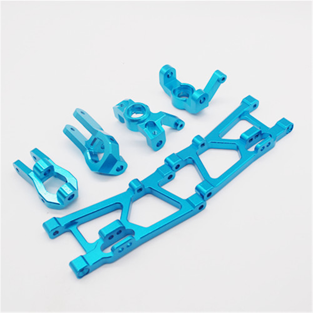 6PCS Wltoys K949 10428A B C 1/10 Rc Car Upgrade Parts Lower Swing Arm Steering Cup C Style Seat Set
