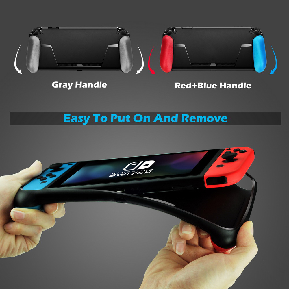 K&A Protective Cover Case Handle with Game Card Slot for Nintendo Switch Game Console