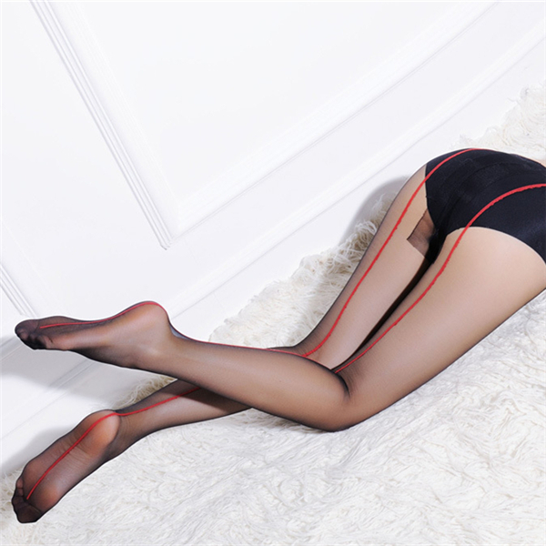 Women Ladies Girls Black Sexy Back Side Line Tattoo Stockings Sock Pantyhose Tights