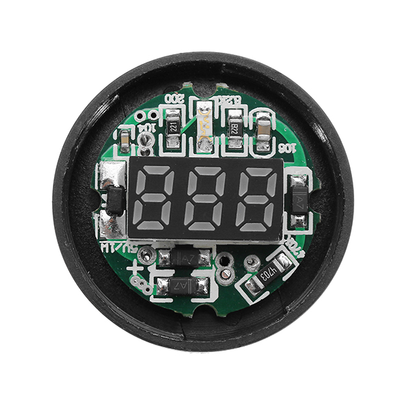 Machifit 22mm AC 20-500V Yellow Digital AC Voltmeter Voltage Meter Gauge Digital Display Indicator