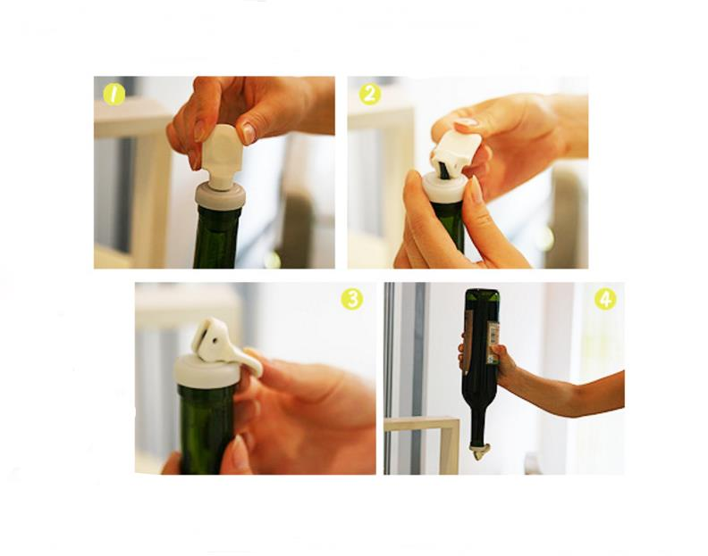 KCASA KC-SP008 Bottle Top Lid Expanded Reusable Vacuume Sealer Stopper Flip Cap Cork Wine Beer