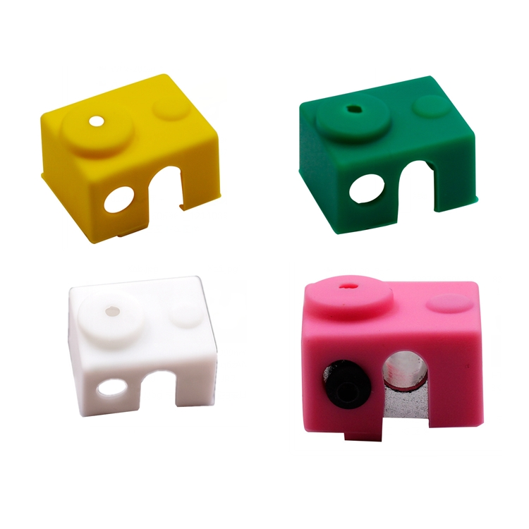 White/Pink/Yellow/Green Universal Hotend Block Insulation Sock Silicone Case For 3D Printer
