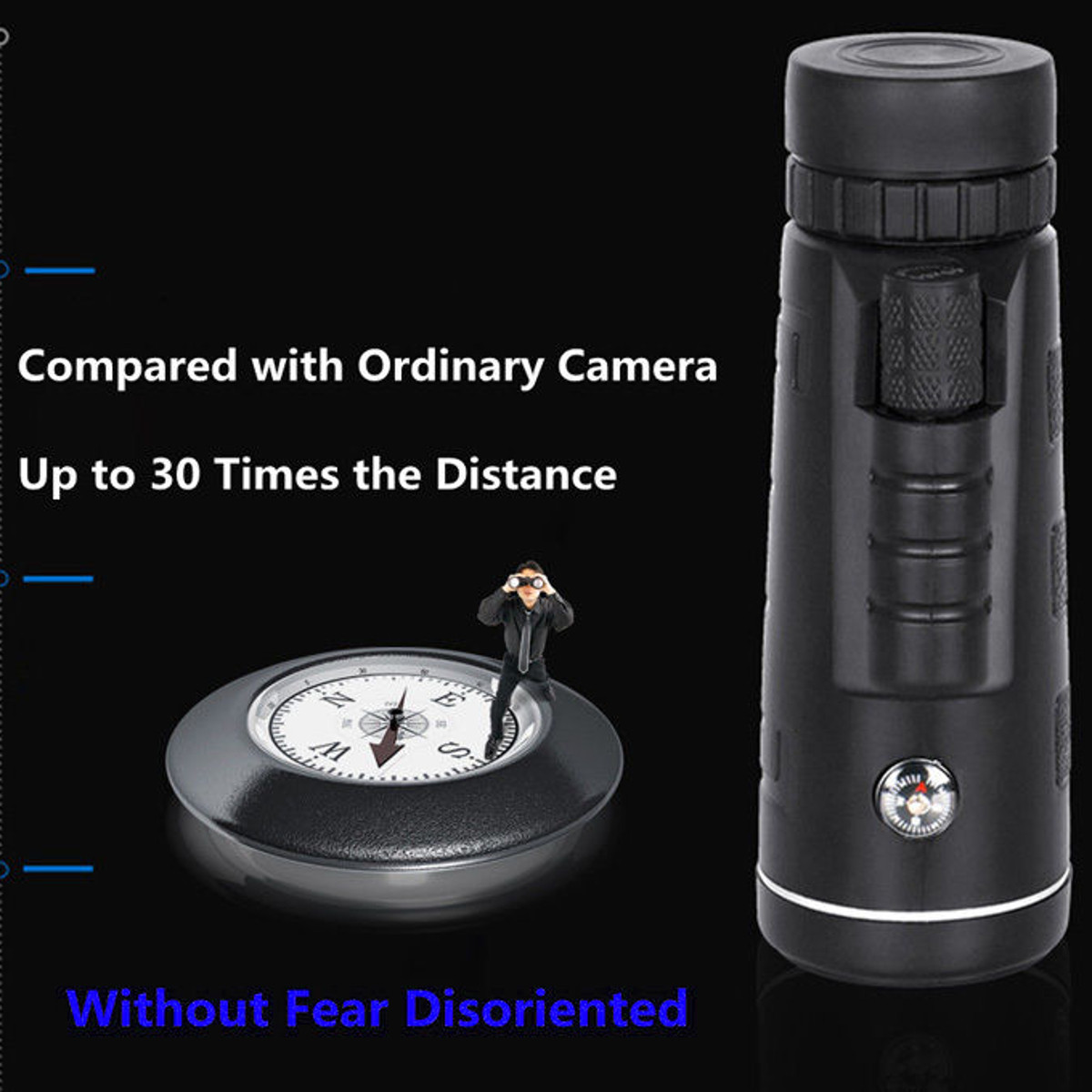 Universal 40X60 Travel Portable HD Dual Focus Optical Prism Monocular Telescope with Tripod