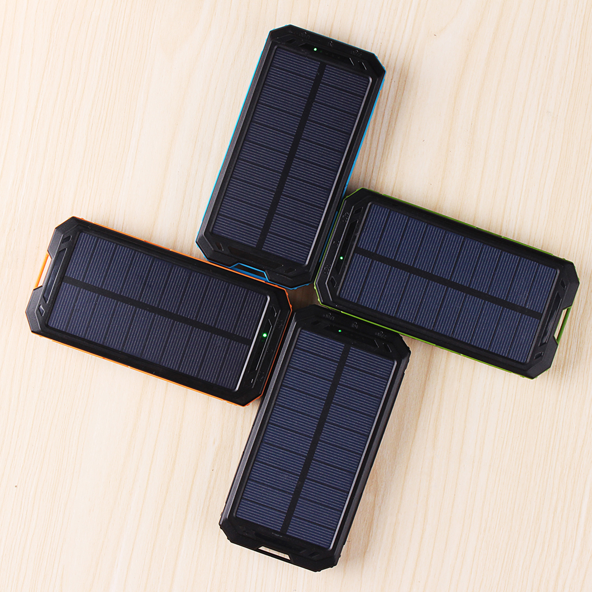 30000mah Dual USB Solar Battery Charger Universal Waterproof Solar Panel Power Charging With LED