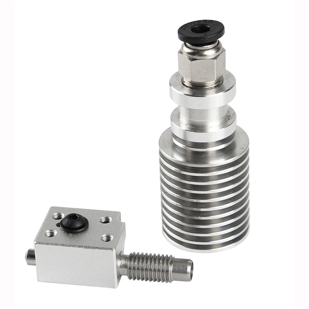 V6 Single Head Cooling 1.75mm M7 Threaded Extruder with Heating Block for 3D Printer 10