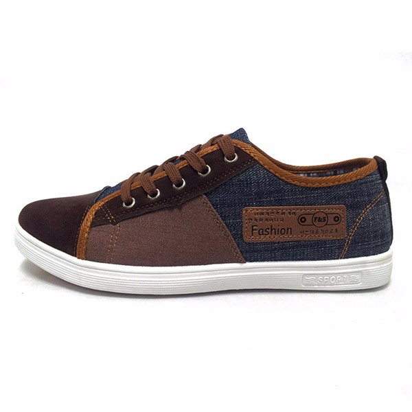 Men Shoes Round Toe Lace Up Casual Outdoor Skate Sneakers