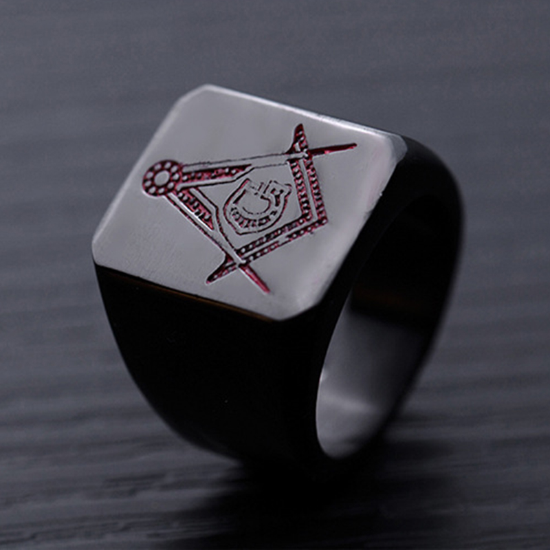 Fashion Finger Ring Titanium Steel Pattern Geometric Finger