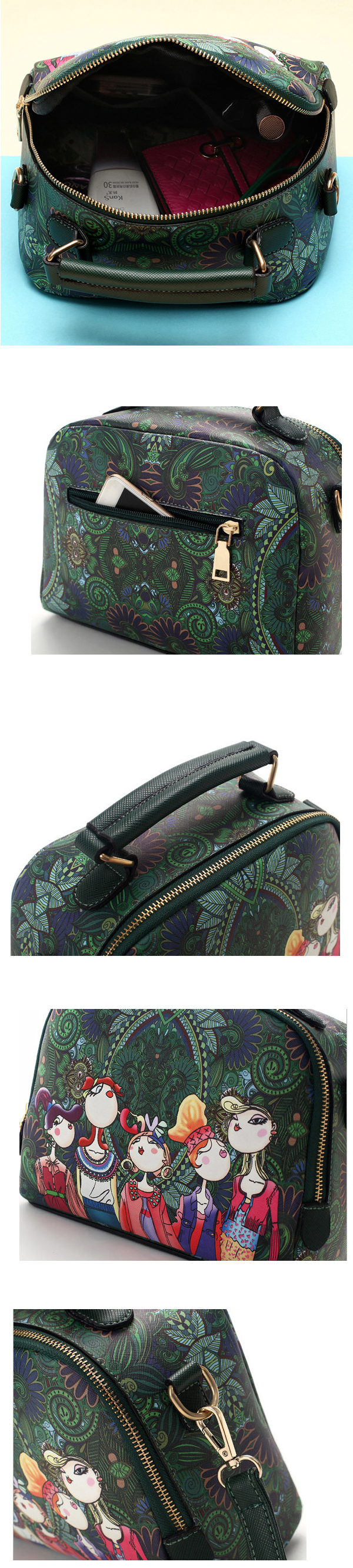 Women Forest Girl PU Wild Crossbody Bags