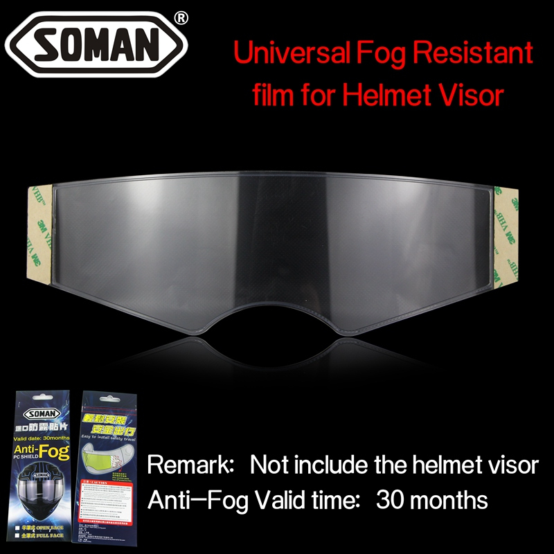 Anti-fog Resistant Film PC Shield High Definition Transparent Patch For Motorcycle Helmet Visor Lens