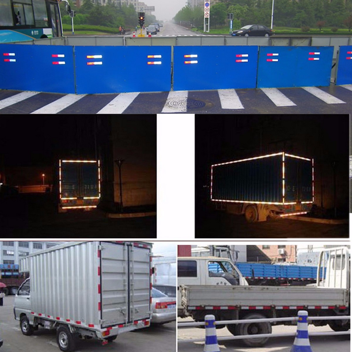 Universial Truck Plastic Reflective Car Stickers Reflection Reflector Warning Plate