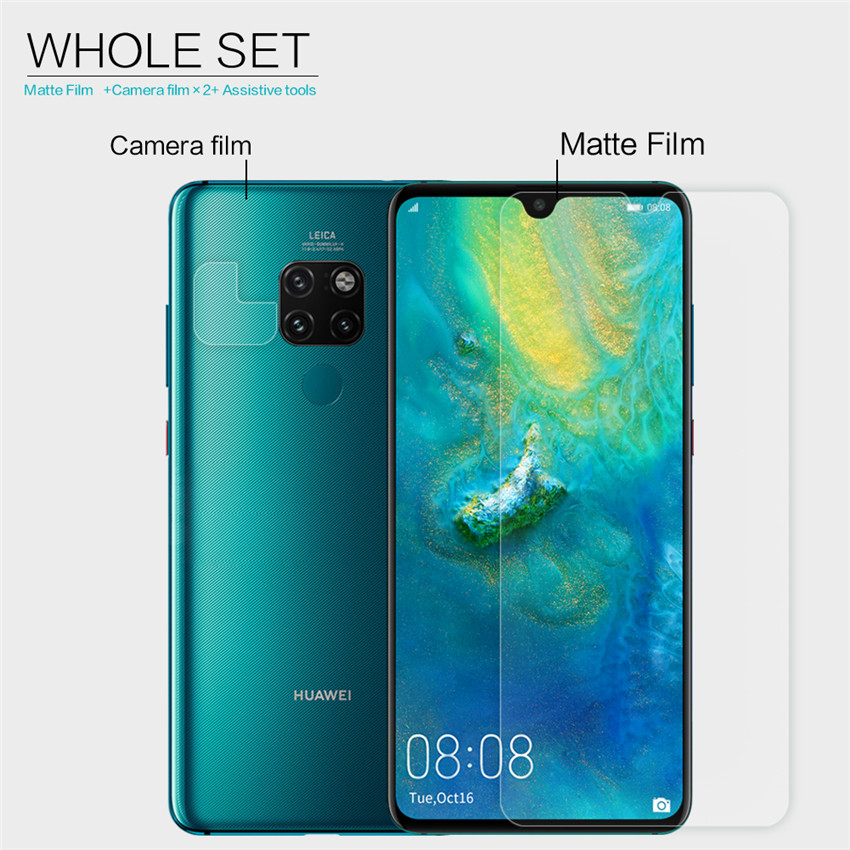 NILLKIN Matte Anti-scratch Anti-fingerprint Screen Protector + Lens Film for Huawei Mate 20