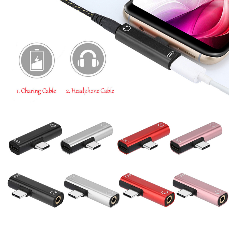 USB Type-C to 3.5mm Aux Jack Audio Cable For Xiaomi 9 Huawei P30 Pro Oneplus 7 Audio Charging Adapter