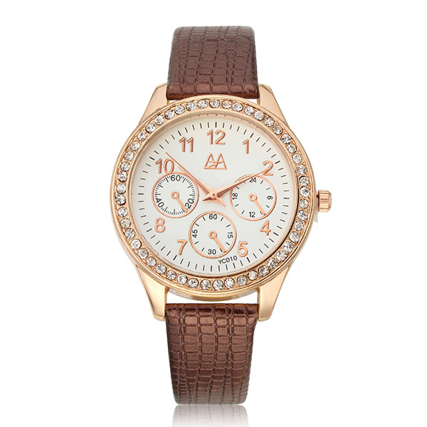 ZUIMEIER YC010 Student Women Fashion Crystals Dial Wrist Watch