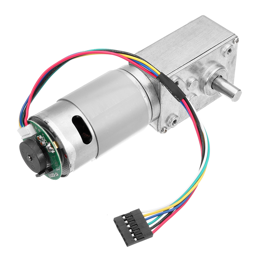 24V A58SW-555B DC Gear Motor Large Torque Motor with Encoder for Chassis Tank Car