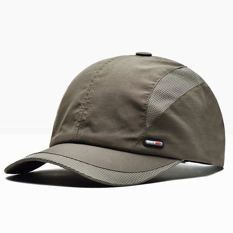 Breathable Quick Dry Baseball Hat Cotton Peaked Cap
