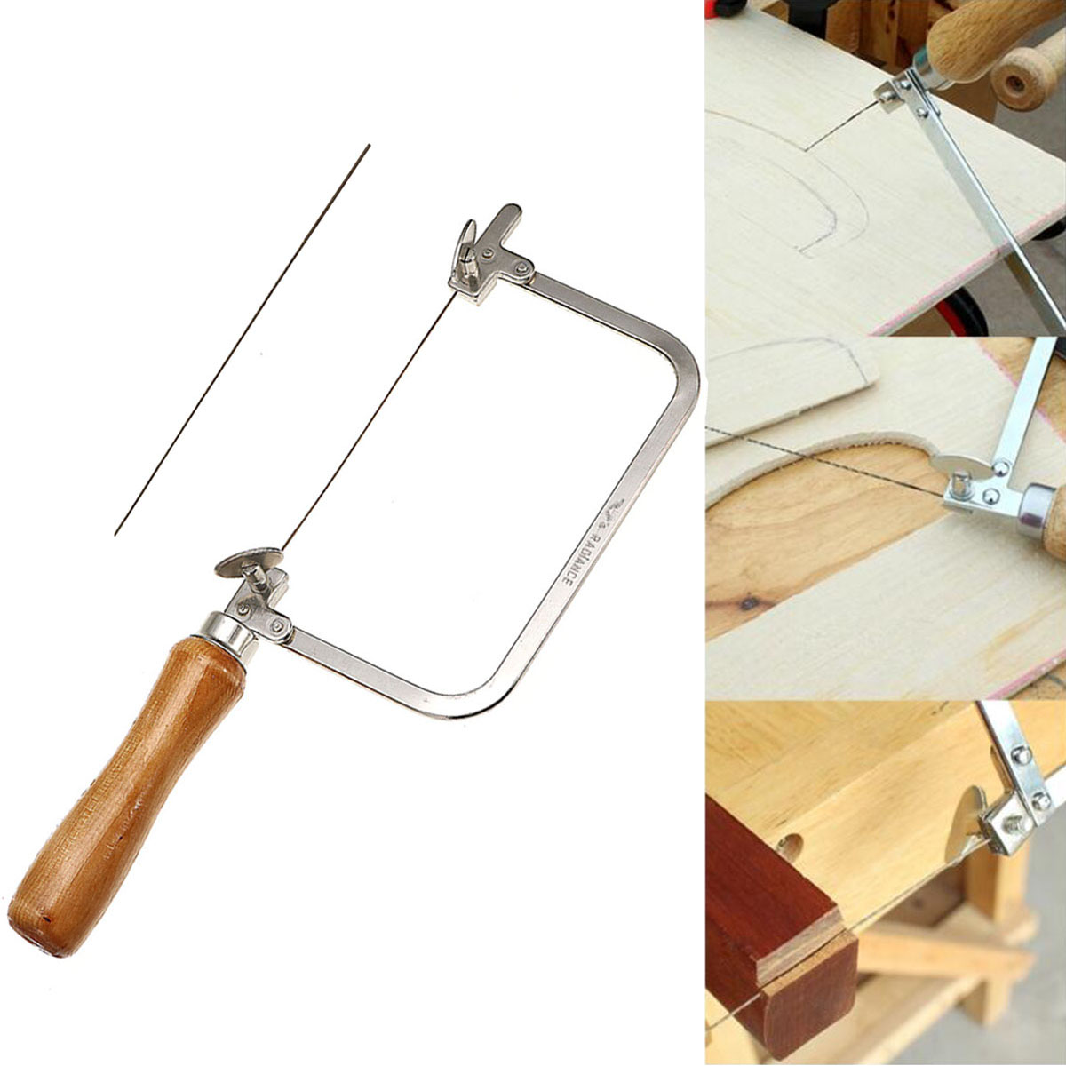 Woodworking Mini Saw Bow Jewelry Wire Carved U-shaped Hand Hacksaw Handle Tool
