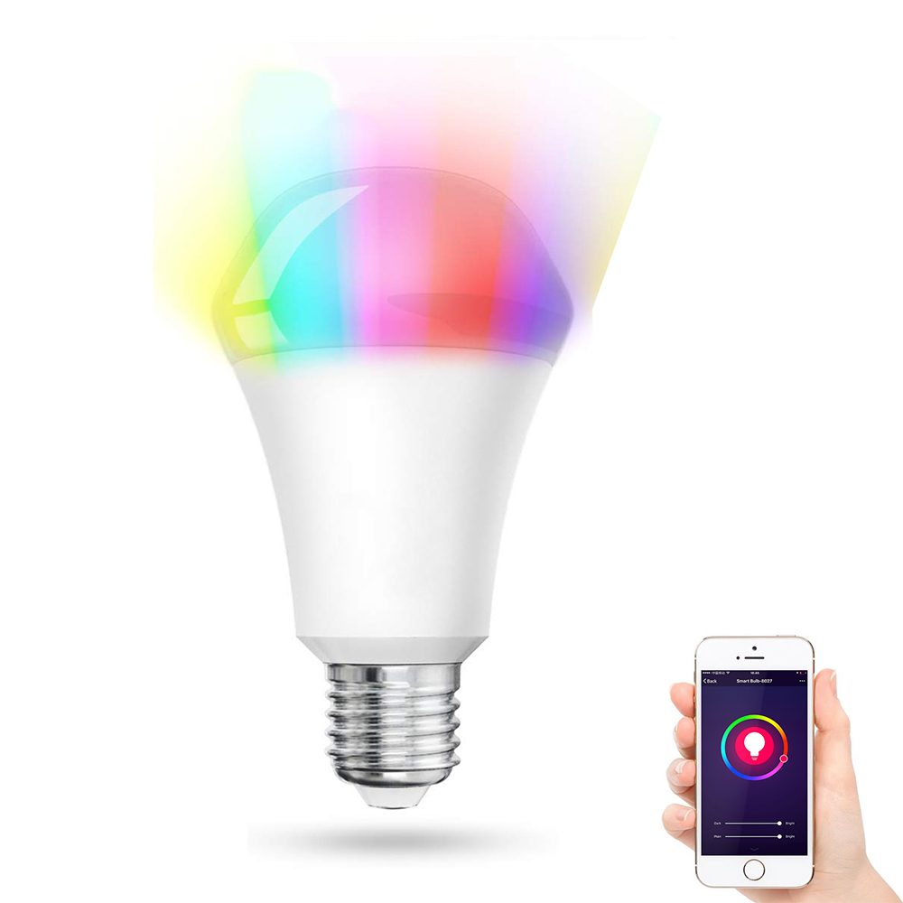 Lombex E27 10W RGBWW WIFI APP Voice Control Smart LED Light Bulb Work with Amazon Alexa AC110-255V