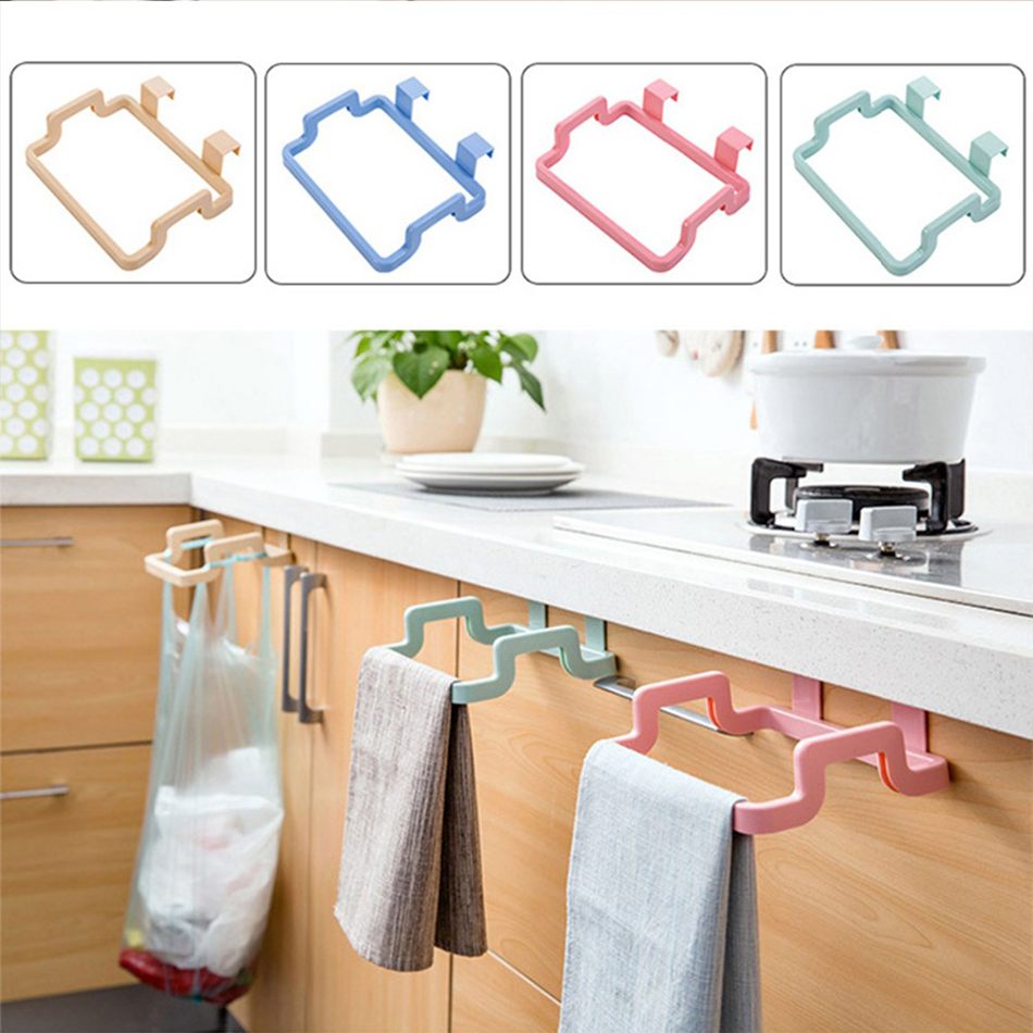 2018 Eco-Friendly Trash Rack Storage Garbage Bag Holder Cupboard Drawer Door Back Hanging Kitchen Cabinet Waste Bin